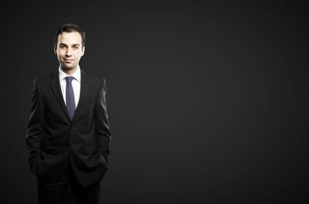 businessman on a black background Stock Photo - 16883199