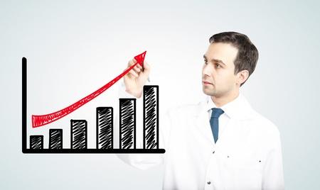 ganancias: médico ganancia dibujo sobre un fondo blanco