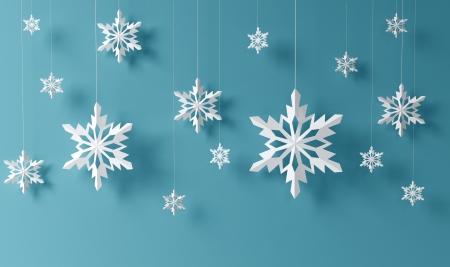 schneeflocke: High-Definition-Schneeflocken auf blauem Hintergrund