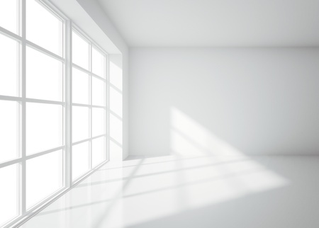 board room: light white room with window Stock Photo