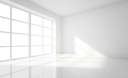 light white room and big window photo