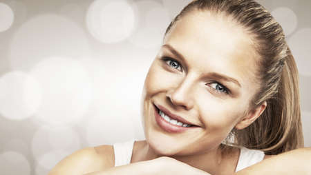 portrait of smiling  beautiful woman Stock Photo - 17256164