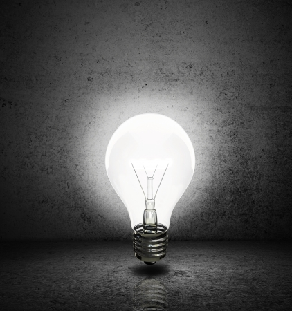 high resolution lightbulb with  dark room Stock Photo - 17300978