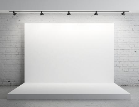 Weißen Hintergrund im Zimmer mit grauer Farbe an der Wand