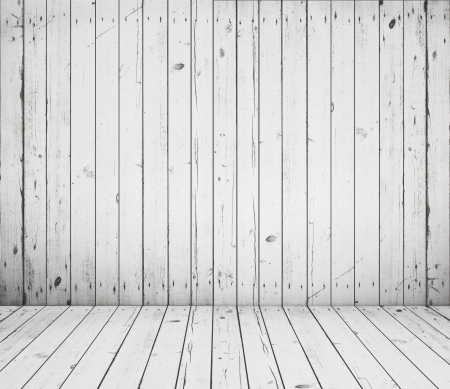 High resolution white wooden room Stock Photo - 17300825
