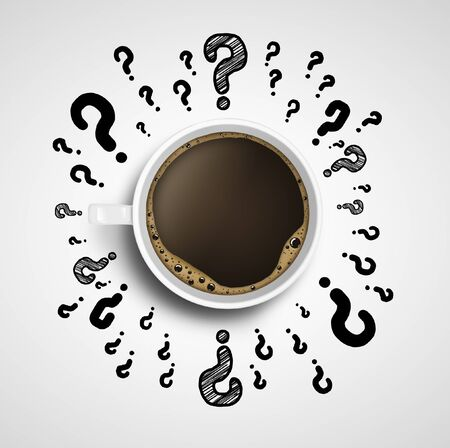 cup of coffee with drawing question mark Stock Photo - 17414768