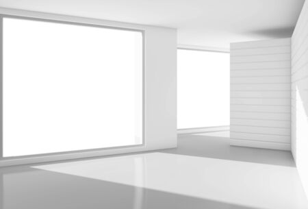 white interior with big window photo