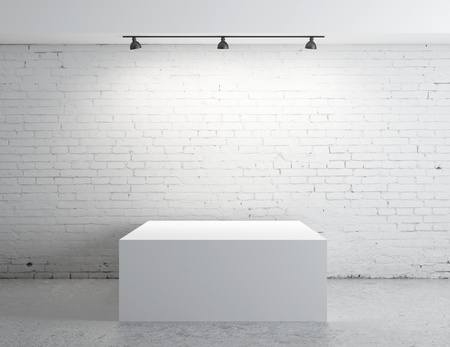 brick concrete room with box presentation Stock Photo - 17414863
