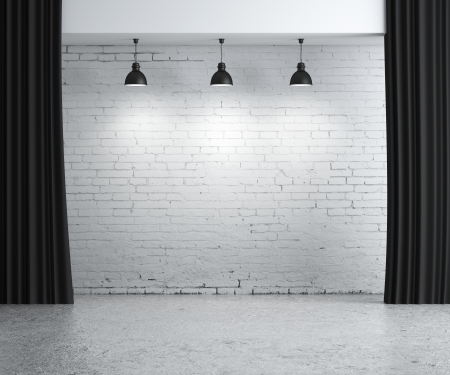 brick concrete room, presentation background Stock Photo - 17414832