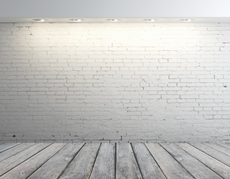 high resolution brick wall and wood floor photo