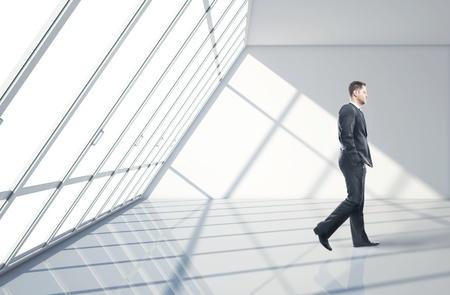 businessman walking in big office Stock Photo - 17526832