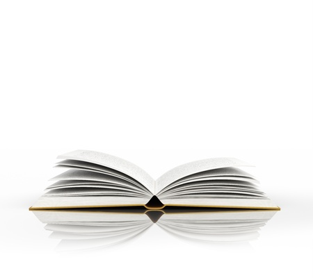 empty book: open book isolated on white Stock Photo