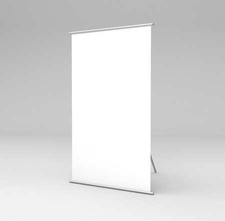 vertical square stand in gray background photo