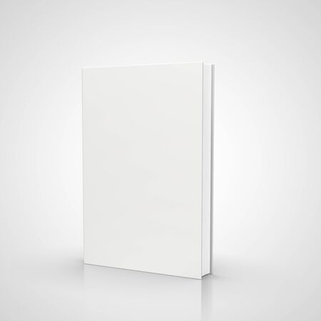 hardcovers: front view of blank book  on white background Stock Photo
