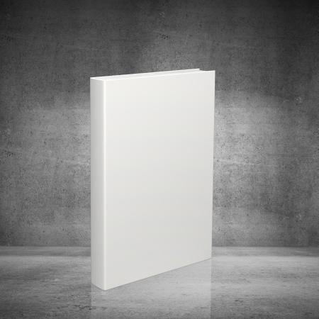 libros abiertos: libro blanco sobre fondo de hormig�n
