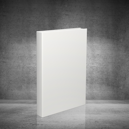 blank book: white  book on concrete background