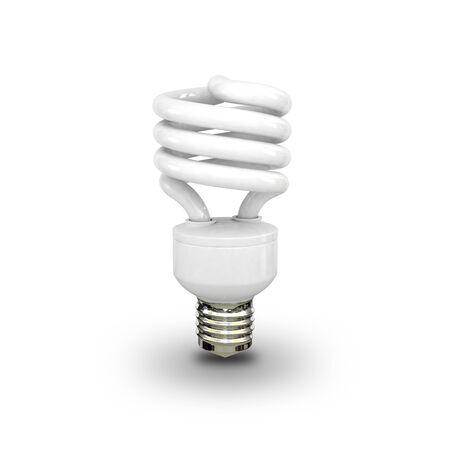 Energy saving fluorescent lightbulb on white background Stock Photo - 17686489