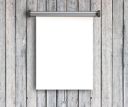 one sheet: placard on grunge wooden wall