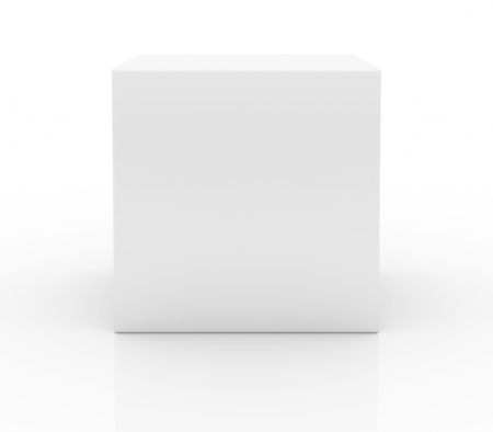 Blank box on white background Stock Photo - 17880005