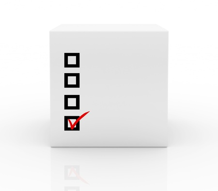 box with checklist on white background photo