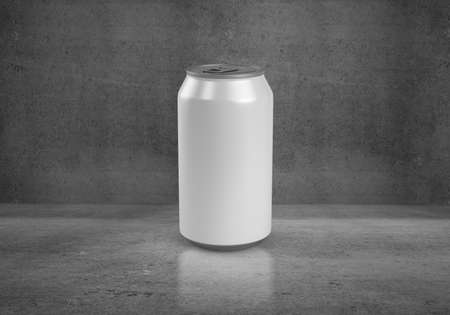 beer can on concerete background photo