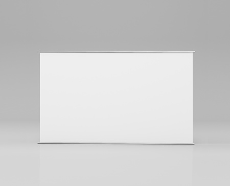 white stand in a gray background photo