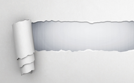 Torn paper with gray background Stock Photo - 17883179