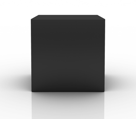 product box: black box on white background