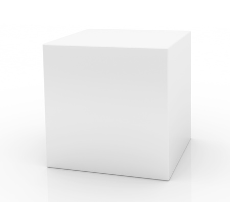 shipping boxes: Blank box on white background