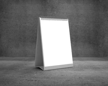 blank calendar on a concrete background photo