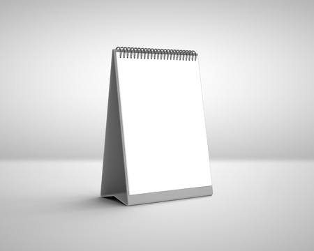 blank calendar on a white background photo