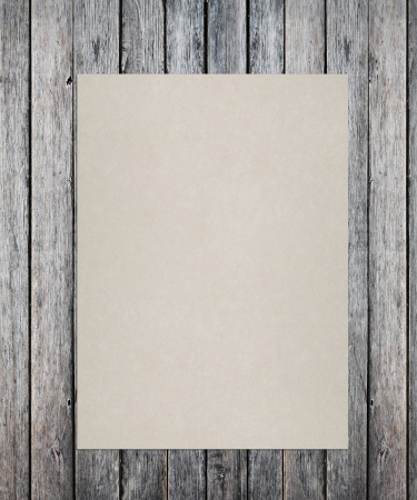 one sheet: grunge wood texture with crafted poster