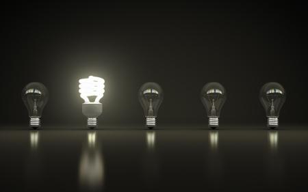 light bulbs on gray background Stock Photo - 18039145