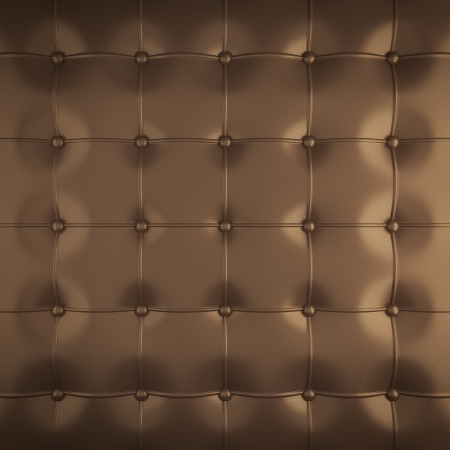 padded: gold leather upholstery pattern , 3d illustration Stock Photo