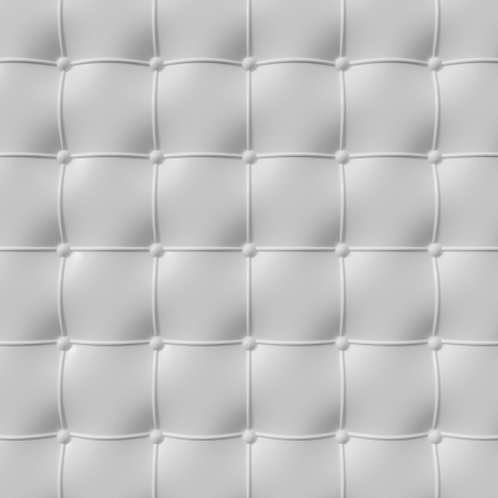 padding: white leather upholstery pattern , 3d illustration
