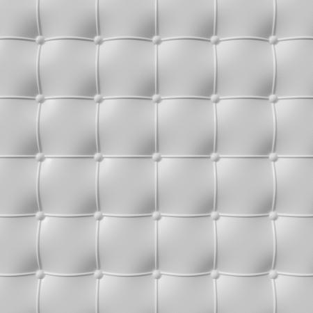 weiße Lederausstattung Muster, 3d illustration