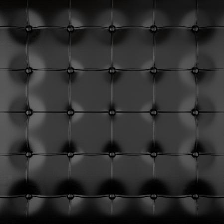 cuir: Sellerie en cuir noir avec des boutons noirs