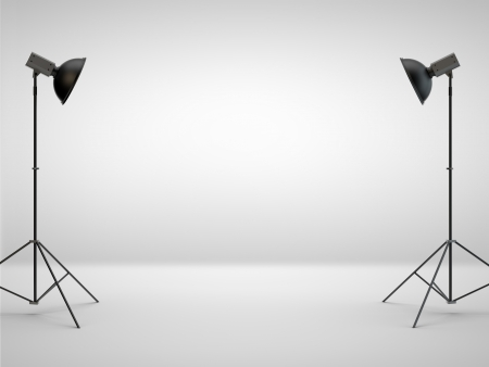 photo studio: photography studio with a light set-up