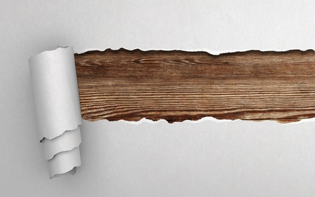 Torn paper with wooden texture Stock Photo - 18039202