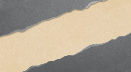 gray torn paper with yellow background Stock Photo - 18039209