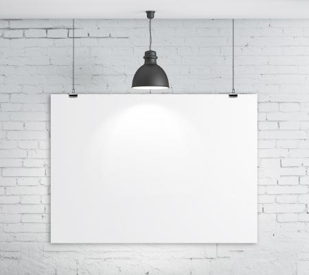 portfolios: poster on brick wall and plafond