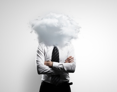man with a cloud instead of a head Stock Photo - 18039637