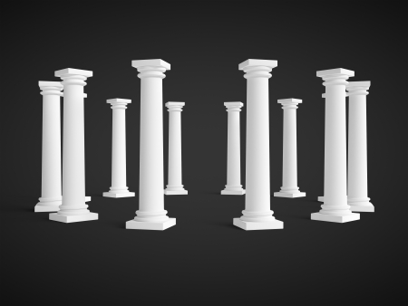 columns on a black background Stock Photo - 18039577