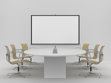 white blank poster in office