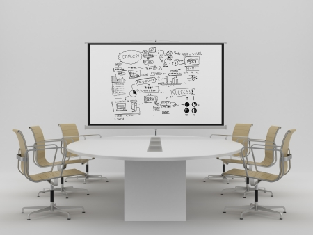 poster with business concept in office Stock Photo