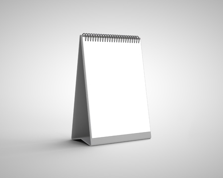 blank calendar on a white background Stock Photo - 18187599