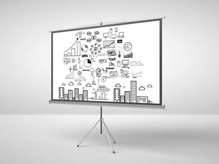 flipchart with business concept in office