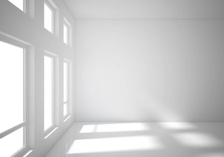 white room: white room with big window Stock Photo