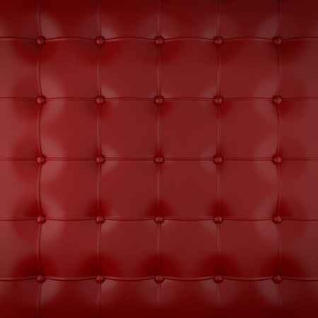 padded: red leather upholstery pattern , 3d illustration