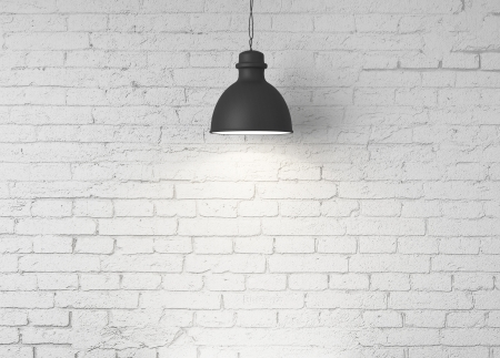 ceiling lamp: brick wall and ceiling lamps